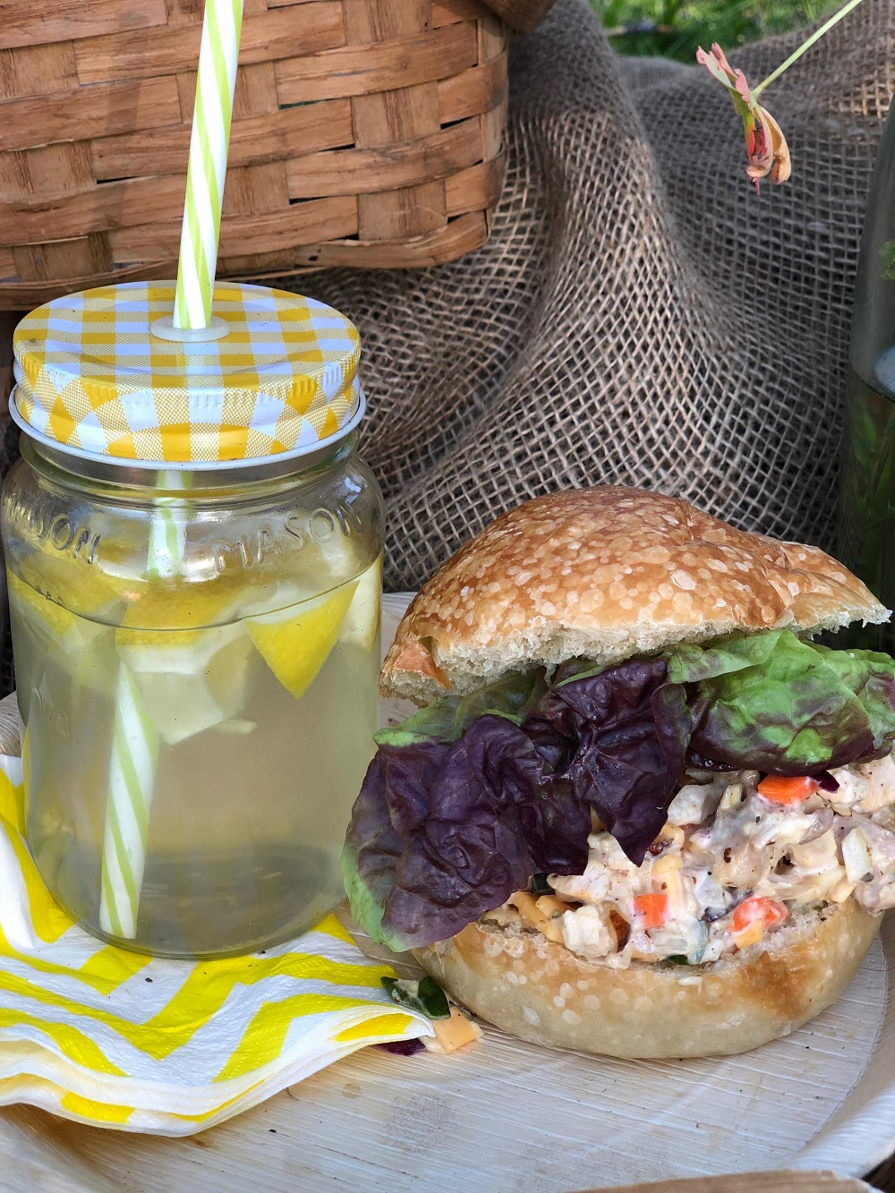 Chicken Salad with Lemonade