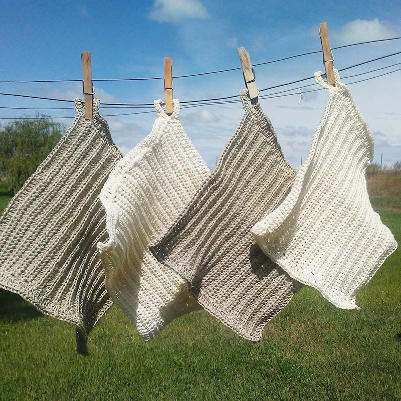 Farm Dishcloth Hemp And Cotton