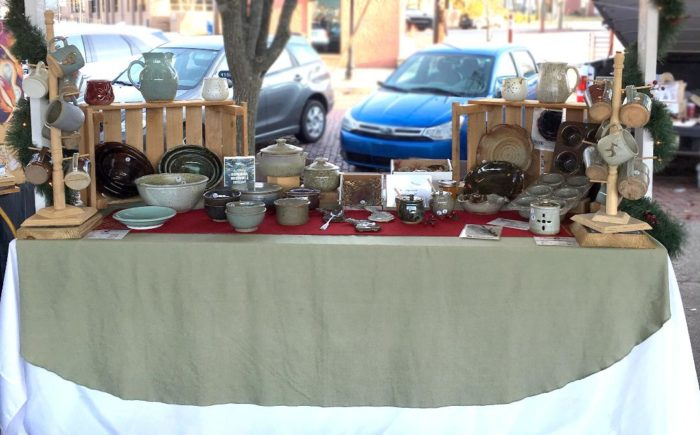 Swallowtail Pottery Booth Setup