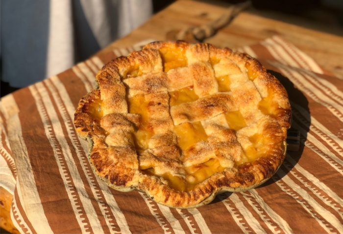 Farm Kitchen Recipe: Woven Lattice Peach Pie