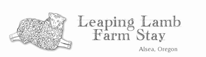 Leaping Lamb Farm website header