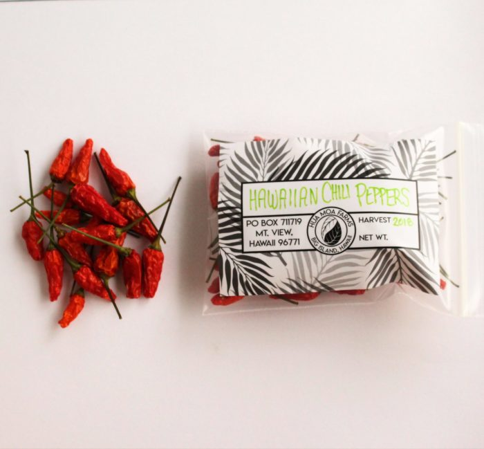 Dried Chili Peppers Hua Moa Farms Hawaii