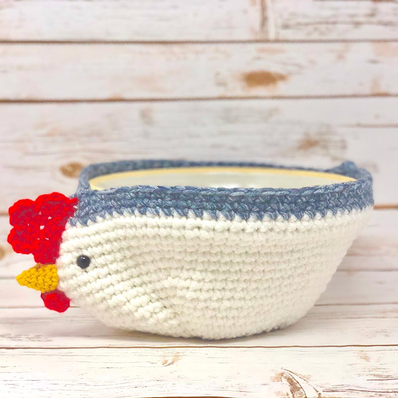 Farm Crochet – Chicken Basket