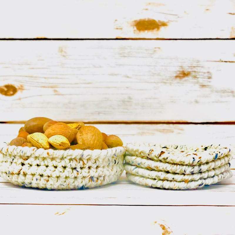 Farm Crochet – Coasters And Bowl