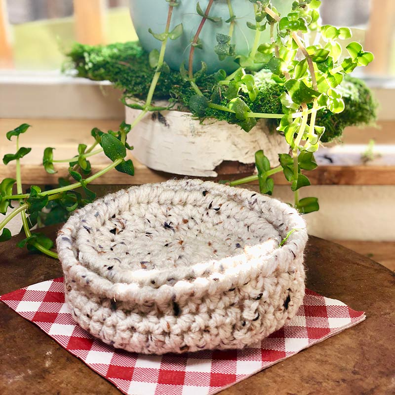Farm Crochet Coasters and Bowl