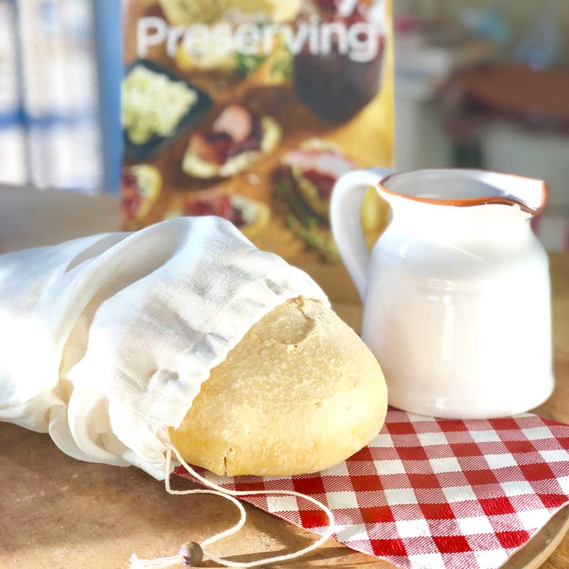 Farm Linen Bread Bag