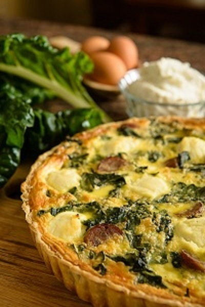 Farmhouse Kitchen Recipe: Swiss Chard, Sausage & Ricotta Quiche