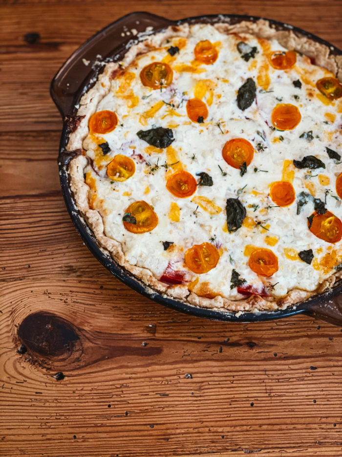 Farmhouse Kitchen Recipe: Late Summer Sweet Corn & Tomato Pie